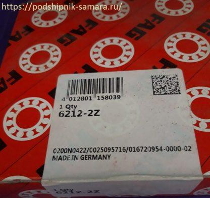 Подшипник 6212-2z fag упаковка