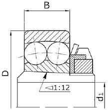 Двухрядный сферический шарикоподшипник на втулке чертеж