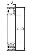 Подшипник серии N роликовый чертеж