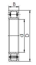 Подшипник серии NU (32100) чертеж