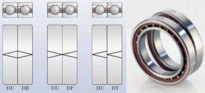 Схема установки импортных шпиндельных дуплексных подшипников